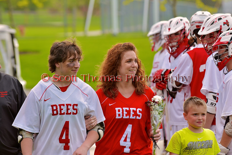 Baldwinsville Bees Boys Lacrosse Senior Night at the Pelcher-Arcaro Stadium in Baldwinsville, New York on Monday, May 11, 2015.