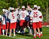 Baldwinsville Bees Peter Fiorni III (13) being introduced before playing the Syracuse Cougars in Section III Boys Lacrosse Quarter Final Playoff action at the Pelcher-Arcaro Stadium in Baldwinsville, New York on Wednesday, May 20, 2015. Syracuse won 12-9.