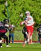 Baldwinsville Bees Charlie Bertrand (6) lets a shot go at the Syracuse Cougars net in Section III Boys Lacrosse Quarter Final Playoff action at the Pelcher-Arcaro Stadium in Baldwinsville, New York on Wednesday, May 20, 2015.  Syracuse won 12-9.