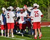 Baldwinsville Bees Dillon Darcangelo (10) being introduced before playing the Syracuse Cougars in Section III Boys Lacrosse Quarter Final Playoff action at the Pelcher-Arcaro Stadium in Baldwinsville, New York on Wednesday, May 20, 2015. Syracuse won 12-9.