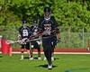 Syracuse Cougars John Elliot (22) warming up before playing the Baldwinsville Bees in Section III Boys Lacrosse Quarter Final Playoff game at the Pelcher-Arcaro Stadium in Baldwinsville, New York on Wednesday, May 20, 2015. Syracuse won 12-9.