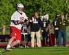 Baldwinsville Bees Charlie Bertrand (6) looking to make a play against the Syracuse Cougars in Section III Boys Lacrosse Quarter Final Playoff action at the Pelcher-Arcaro Stadium in Baldwinsville, New York on Wednesday, May 20, 2015. Syracuse won 12-9.