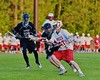 Baldwinsville Bees hosted the Syracuse Cougars in Section III Boys Lacrosse Quarter Final Playoff action at the Pelcher-Arcaro Stadium in Baldwinsville, New York on Wednesday, May 20, 2015.  Syracuse won 12-9.