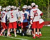 Baldwinsville Bees John Petrelli (33) being introduced before playing the Syracuse Cougars in Section III Boys Lacrosse Quarter Final Playoff action at the Pelcher-Arcaro Stadium in Baldwinsville, New York on Wednesday, May 20, 2015. Syracuse won 12-9.