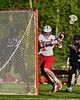 Baldwinsville Bees Charlie Bertrand (6) breaks in to score a goal against the Syracuse Cougars in Section III Boys Lacrosse Quarter Final Playoff action at the Pelcher-Arcaro Stadium in Baldwinsville, New York on Wednesday, May 20, 2015.  Syracuse won 12-9.