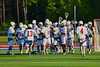 Auburn Maroons celebrate their victory over the Syracuse Cougars in Section III Boys Lacrosse Semi-Final game at the Michael J. Bragman Stadium in Cicero, New York on Saturday, May 23, 2015.  Auburn won 14-6.