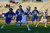 West Genesee Wildcats Conor Bartlett (2) follows through on a scoring shot at the Cicero-North Syracuse Northstars net in a Section III Boys Lacrosse Semi-Final game at the Michael J. Bragman Stadium in Cicero, New York on Saturday, May 23, 2015.  West Genesee won 13-3.