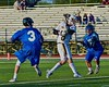 West Genesee Wildcats Ryan McDonald (8) follows through on a scoring shot against the Cicero-North Syracuse Northstars in a Section III Boys Lacrosse Semi-Final game at the Michael J. Bragman Stadium in Cicero, New York on Saturday, May 23, 2015.  West Genesee won 13-3.