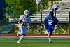 West Genesee Wildcats Spencer McNamara (17) brings up the ball against the Cicero-North Syracuse Northstars in a Section III Boys Lacrosse Semi-Final game at the Michael J. Bragman Stadium in Cicero, New York on Saturday, May 23, 2015.  West Genesee won 13-3.