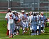 Baldwinsville Bees Peter Fiorni III (13) being introduced before playing the Skaneateles Lakers in Section III Boys Lacrosse action at the Pelcher-Arcaro Stadium in Baldwinsville, New York on Saturday, April 2, 2016.