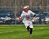 Baldwinsville Bees Kyle Pelcher (29) with the ball against the Skaneateles Lakers in Section III Boys Lacrosse action at the Pelcher-Arcaro Stadium in Baldwinsville, New York on Saturday, April 2, 2016.  Baldwinsville won 10-6.