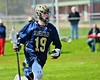Skaneateles Lakers Devin Callahan (19) with the ball against the Baldwinsville Bees in Section III Boys Lacrosse action at the Pelcher-Arcaro Stadium in Baldwinsville, New York on Saturday, April 2, 2016.  Baldwinsville won 10-6.