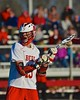 Baldwinsville Bees Peter Fiorni III (13) with the ball against the Syracuse Cougars in Section III Boys Lacrosse action at the Pelcher-Arcaro Stadium in Baldwinsville, New York on Thursday, April 14, 2016.  Baldwinsville won 11-6.