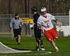 Baldwinsville Bees Charlie Bertrand (6) after scoring on Syracuse Cougars in Section III Boys Lacrosse action at the Pelcher-Arcaro Stadium in Baldwinsville, New York on Thursday, April 14, 2016.  Baldwinsville won 11-6.