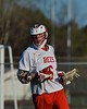 Baldwinsville Bees Charlie Bertrand (6) after scoring a goal against the Syracuse Cougars in Section III Boys Lacrosse action at the Pelcher-Arcaro Stadium in Baldwinsville, New York on Thursday, April 14, 2016.  Baldwinsville won 11-6.