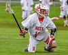 Baldwinsville Bees Dillon Darcangelo (10) looking to make a play against the Auburn Maroons in Section III Boys Lacrosse action at the Pelcher-Arcaro Stadium in Baldwinsville, New York on Monday, May 2, 2016.  Baldwinsville won 16-6.