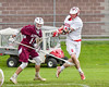 Baldwinsville Bees Charlie Bertrand (6) scores against the Auburn Maroons in Section III Boys Lacrosse action at the Pelcher-Arcaro Stadium in Baldwinsville, New York on Monday, May 2, 2016.  Baldwinsville won 16-6.