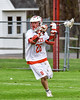 Baldwinsville Bees Connor Smith (26) with the ball against the Auburn Maroons in Section III Boys Lacrosse action at the Pelcher-Arcaro Stadium in Baldwinsville, New York on Monday, May 2, 2016.  Baldwinsville won 16-6.
