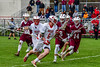 Baldwinsville Bees Charlie Bertrand (6) running with the ball against the Auburn Maroons in Section III Boys Lacrosse action at the Pelcher-Arcaro Stadium in Baldwinsville, New York on Monday, May 2, 2016.  Baldwinsville won 16-6.