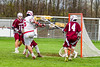 Baldwinsville Bees Charlie Bertrand (6) shoots the ball at the Auburn Maroons net in Section III Boys Lacrosse action at the Pelcher-Arcaro Stadium in Baldwinsville, New York on Monday, May 2, 2016.  Baldwinsville won 16-6.
