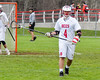 Baldwinsville Bees Nick Cacciola (4) playing against the Auburn Maroons in Section III Boys Lacrosse action at the Pelcher-Arcaro Stadium in Baldwinsville, New York on Monday, May 2, 2016.  Baldwinsville won 16-6.