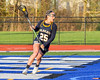 West Genesee Wildcats Kyra Bednarski (25) with the ball against the Cicero-North Syracuse Northstars in Section III Girls Lacrosse action at Bragman Stadium in Cicero, New York on Thursday, May 5, 2016.  West Genesee won 9-5.