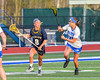 West Genesee Wildcats Mackenzie Baker (8) with the ball against the Cicero-North Syracuse Northstars in Section III Girls Lacrosse action at Bragman Stadium in Cicero, New York on Thursday, May 5, 2016.  West Genesee won 9-5.