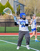 Cicero-North Syracuse Northstars goalie Lauren Gilbert (3) looking to make a play against the West Genesee Wildcats in Section III Girls Lacrosse action at Bragman Stadium in Cicero, New York on Thursday, May 5, 2016.  West Genesee won 9-5.
