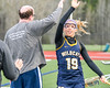 West Genesee Wildcats Ally Trice (19) being introduced before playing the Cicero-North Syracuse Northstars in Section III Girls Lacrosse action at Bragman Stadium in Cicero, New York on Thursday, May 5, 2016.