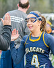 West Genesee Wildcats Alexa Meager (4) being introduced before playing the Cicero-North Syracuse Northstars in Section III Girls Lacrosse action at Bragman Stadium in Cicero, New York on Thursday, May 5, 2016.