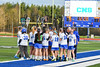 Cicero-North Syracuse Northstars players huddle during a timeout against the West Genesee Wildcats in Section III Girls Lacrosse action at Bragman Stadium in Cicero, New York on Thursday, May 5, 2016.  West Genesee won 9-5.