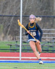 West Genesee Wildcats Ally Trice (19) with the ball against the Cicero-North Syracuse Northstars in Section III Girls Lacrosse action at Bragman Stadium in Cicero, New York on Thursday, May 5, 2016.  West Genesee won 9-5.