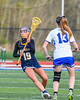 West Genesee Wildcats Ally Trice (4) with the ball against the Cicero-North Syracuse Northstars in Section III Girls Lacrosse action at Bragman Stadium in Cicero, New York on Thursday, May 5, 2016.  West Genesee won 9-5.