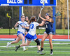 West Genesee Wildcats Ally Trice (4) passing the ball against the Cicero-North Syracuse Northstars in Section III Girls Lacrosse action at Bragman Stadium in Cicero, New York on Thursday, May 5, 2016.