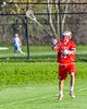 Baldwinsville Bees Kyle Pelcher (29) passing the ball against the Cazenovia Lakers in Section III Boys Lacrosse action at the Sean M. Googin Memorial Sports Complex in Cazenovia, New York on Tuesday, May 10, 2016.  Cazenovia won 10-8.