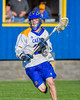 Cazenovia Lakers Cole Willard (24) with the ball against the Baldwinsville Bees in Section III Boys Lacrosse action at the Sean M. Googin Memorial Sports Complex in Cazenovia, New York on Tuesday, May 10, 2016.  Cazenovia won 10-8.