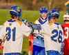 Cazenovia Lakers Jake Lewis (26) celebrates his goal agianst the Baldwinsville Bees in Section III Boys Lacrosse action at the Sean M. Googin Memorial Sports Complex in Cazenovia, New York on Tuesday, May 10, 2016.  Cazenovia won 10-8.