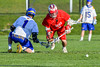 Baldwinsville Bees Ryan ingerson (3) wins a face-off against Cazenovia Lakers Brice Basic (1) in Section III Boys Lacrosse action at the Sean M. Googin Memorial Sports Complex in Cazenovia, New York on Tuesday, May 10, 2016.  Cazenovia won 10-8.