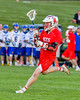 Baldwinsville Bees Connor Smith (26) running with the ball against the Cazenovia Lakers in Section III Boys Lacrosse action at the Sean M. Googin Memorial Sports Complex in Cazenovia, New York on Tuesday, May 10, 2016.  Cazenovia won 10-8.