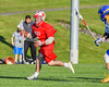 Baldwinsville Bees Ryan ingerson (3) running with the ball against the Cazenovia Lakers in Section III Boys Lacrosse action at the Sean M. Googin Memorial Sports Complex in Cazenovia, New York on Tuesday, May 10, 2016.  Cazenovia won 10-8.