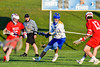 Baldwinsville Bees visited the Cazenovia Lakers in Section III Boys Lacrosse action at the Sean M. Googin Memorial Sports Complex in Cazenovia, New York on Tuesday, May 10, 2016.  Cazenovia won 10-8.