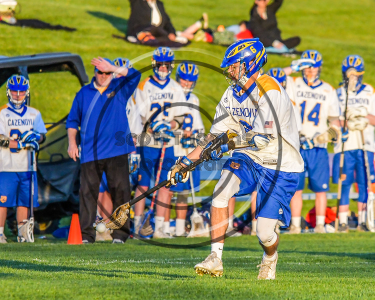 Cazenovia Lakers Dylan Hahn (6) after a groiund balla gianst the Baldwinsville Bees in Section III Boys Lacrosse action at the Sean M. Googin Memorial Sports Complex in Cazenovia, New York on Tuesday, May 10, 2016.  Cazenovia won 10-8.