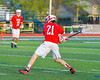 Baldwinsville Bees Brandon Mimas (21) winds up for a shot against the Cicero-North Syracuse Northstars in Section III Boys Lacrosse action at the Bragman Stadium in Cicero, New York on Thursday, May 12, 2016.  Baldwinsville won 7-6 in OT.