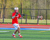 Baldwinsville Bees Ben Dwyer (5) looking to make a play against the Cicero-North Syracuse Northstars in Section III Boys Lacrosse action at the Bragman Stadium in Cicero, New York on Thursday, May 12, 2016.  Baldwinsville won 7-6 in OT.