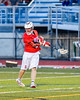 Baldwinsville Bees Connor Smith (26) fires in the tying goal late in the fourth quarter against the Cicero-North Syracuse Northstars in Section III Boys Lacrosse action at the Bragman Stadium in Cicero, New York on Thursday, May 12, 2016.  Baldwinsville won 7-6 in OT.