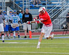 Baldwinsville Bees Peter Fiorni III (13) fires a shot at the  Cicero-North Syracuse Northstars net in Section III Boys Lacrosse action at the Bragman Stadium in Cicero, New York on Thursday, May 12, 2016.  Baldwinsville won 7-6 in OT.