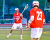 Baldwinsville Bees Peter Fiorni III (13) passing the ball against the Cicero-North Syracuse Northstars in Section III Boys Lacrosse action at the Bragman Stadium in Cicero, New York on Thursday, May 12, 2016.  Baldwinsville won 7-6 in OT.