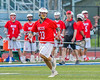 Baldwinsville Bees John Petrelli (33) with the ball against the Cicero-North Syracuse Northstars in Section III Boys Lacrosse action at the Bragman Stadium in Cicero, New York on Thursday, May 12, 2016.  Baldwinsville won 7-6 in OT.