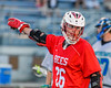 Baldwinsville Bees Connor Smith (26) playing against the Cicero-North Syracuse Northstars in Section III Boys Lacrosse action at the Bragman Stadium in Cicero, New York on Thursday, May 12, 2016.  Baldwinsville won 7-6 in OT.