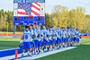 Cicero-North Syracuse Northstars during the National Anthem before playing the Baldwinsville Bees in a Section III Boys Lacrosse game at the Bragman Stadium in Cicero, New York on Thursday, May 12, 2016.